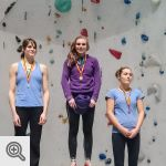 Podium Coupe de Belgique Lead Junior filles<br />© M. Timmermans