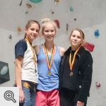 Podium Coupe de Belgique Lead youth B filles<br />© M. Timmermans
