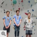 Podium Coupe de Belgique Lead youth B garçons<br />© M. Timmermans