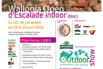 Wallonia Open de bloc ce weekend